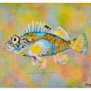 PILIKOA reef fish series painting by artist Rick Kroninger | Felder Gallery