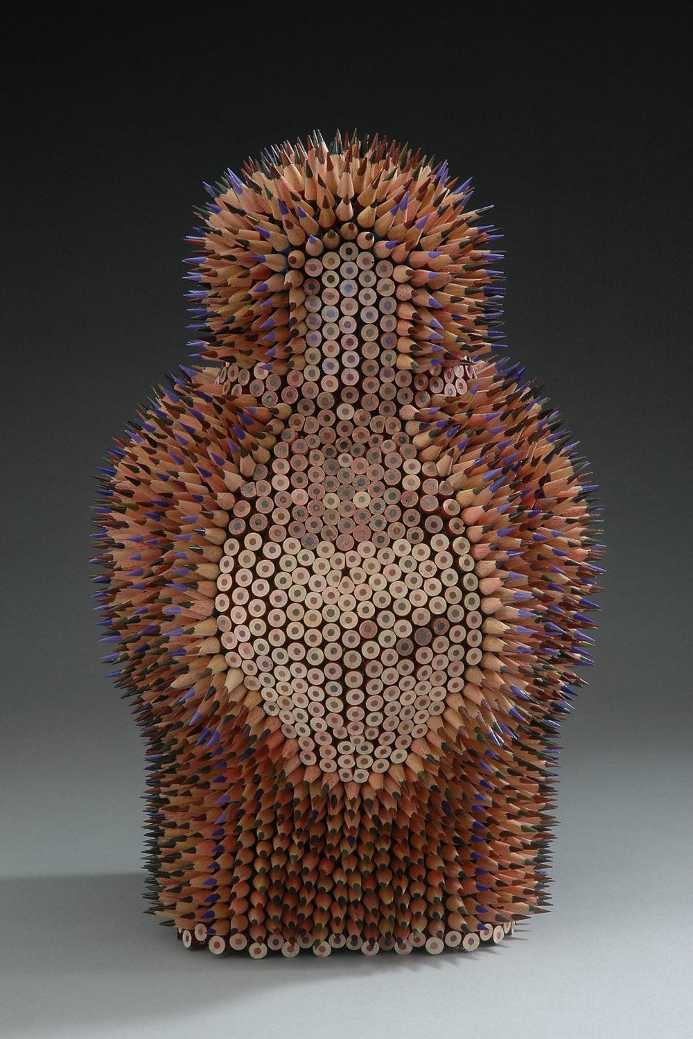 colored pencil sculpture by jen maestre | Felder Gallery