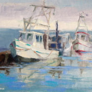 Painting of Shrimpboats
