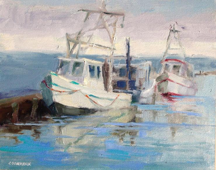 Painting of Shrimpboats