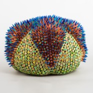 colored pencil sculpture by jen maestre | Felder Gallery