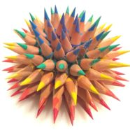 Sea Urchin Pencil Sculpture
