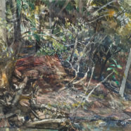 John Cobb painting of trees