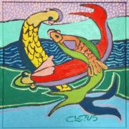 Three Fish Swimming