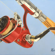 Olympic Spinning Reel painting by Rick Kroninger | Felder Gallery