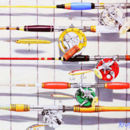 Painting of Rods and Reels