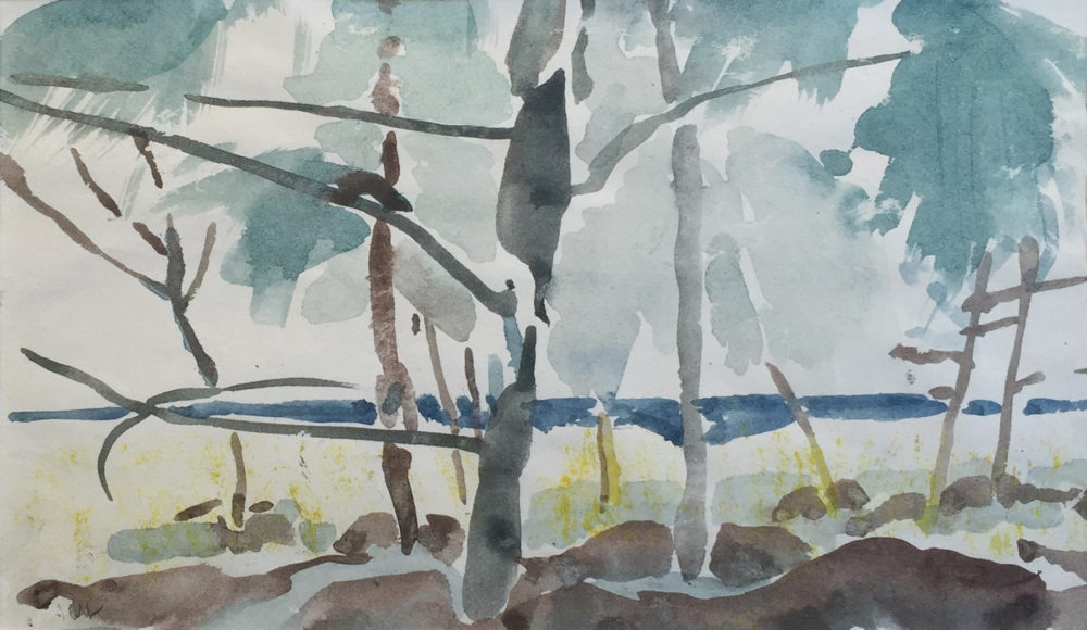 Plein air study in watercolor by artist John Cobb | Felder Gallery