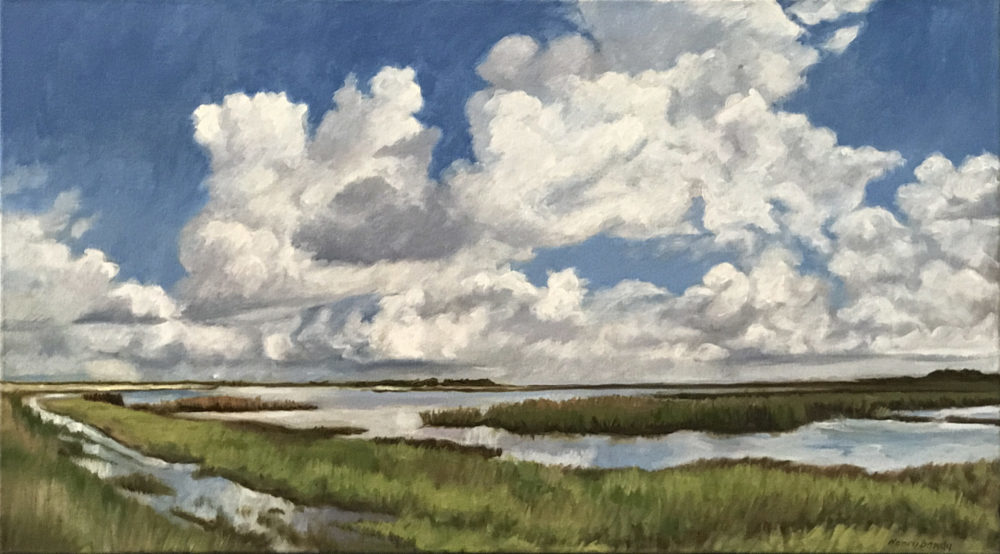 Original landscape in oil on canvas of the Gulf Coast bays by Nancy Bandy | Felder Gallery