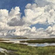 Original landscape in oil on canvas of the Gulf Coast bays by Nancy Bandy | Felder Gallery