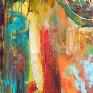 Abstract oil painting by ocean artist Wade Koniakowsky | Felder Gallery