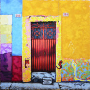 painting of mexican wall by rick kroninger | Felder Gallery