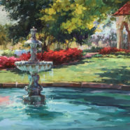 Plein air painting near Highland Park Texas by Christy Kidwell | Felder Gallery