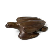bronze wildlife sculpture of turtle by david everett | Felder Gallery