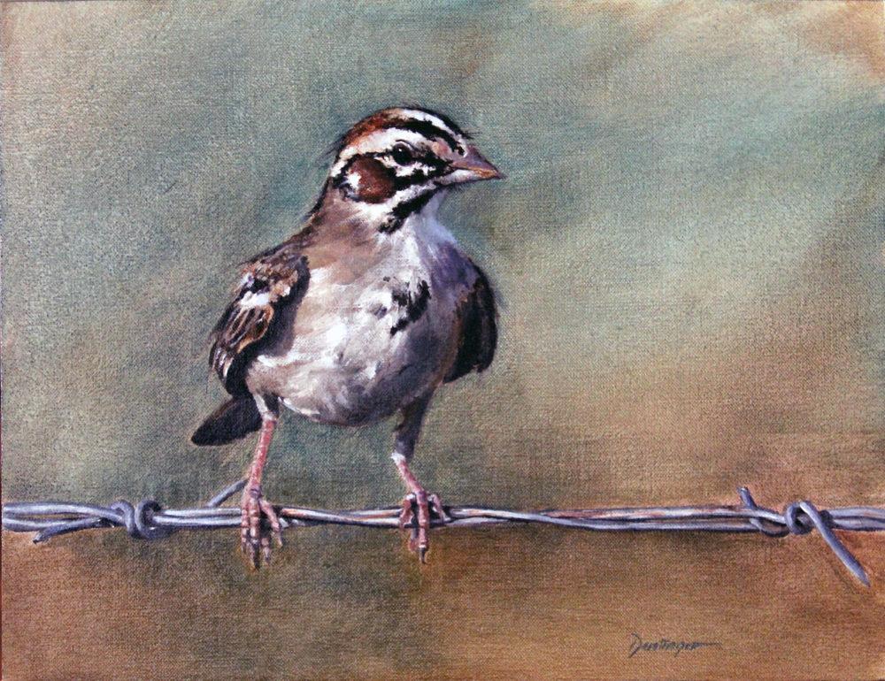 wildlife oil painting of a bird by ric dentinger | Felder Gallery