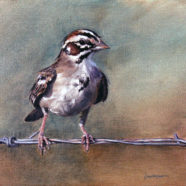 wildlife oil painting of a bird by ric dentinger | Felder Gallery