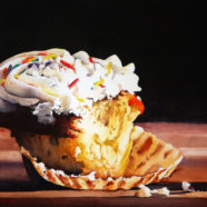 Contemporary cupcake painting by Ric Dentinger | Felder Gallery