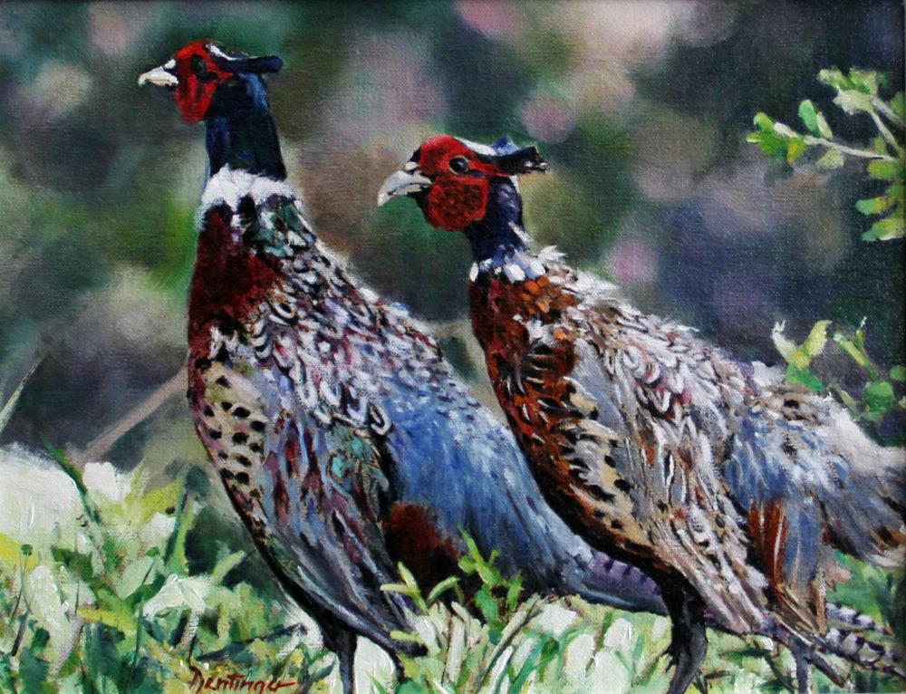 oil painting of pheasant by ric dentinger | Felder Gallery