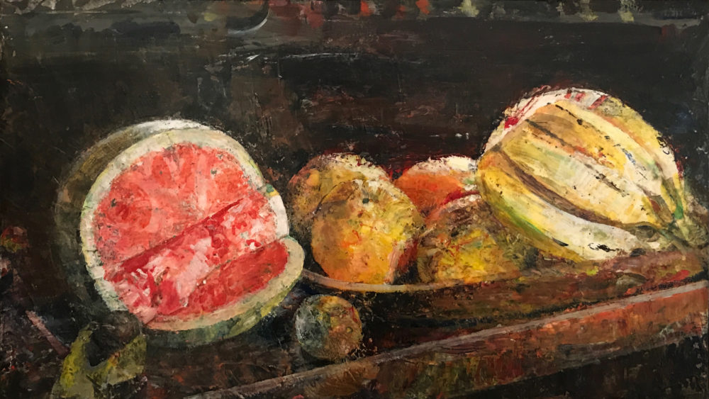 acrylic still life painting of fruit by john cobb | Felder Gallery