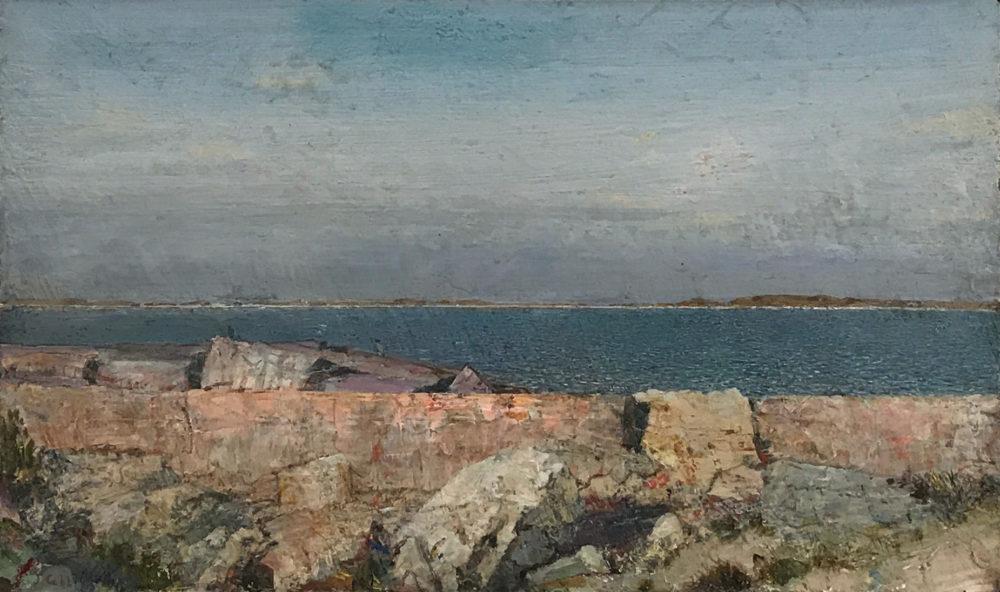 acrylic painting of coastal landscape by john cobb | Felder Gallery