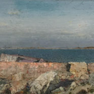 acrylic painting of coastal landscape by john cobb | Felder Gallery