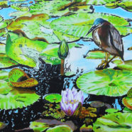 Green Heron painting by Rick Kroninger | Felder Gallery
