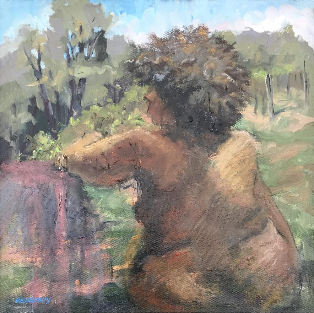 oil plein air figurative drawing by carol devereaux nude figure drawing study by carol devereaux   Felder Gallery