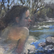 oil plein air figurative drawing by carol devereaux nude figure drawing study by carol devereaux | Felder Gallery