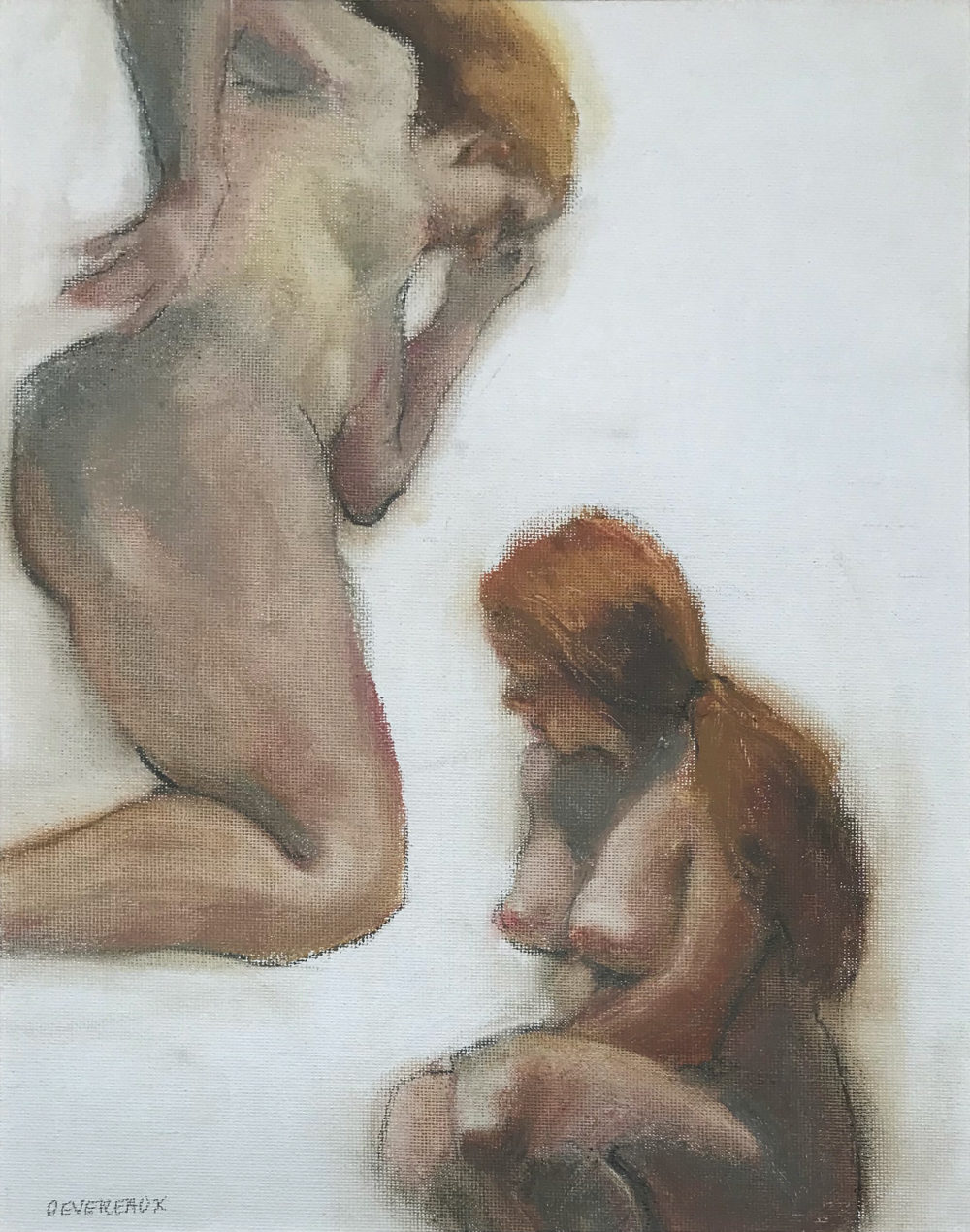 nude figure drawing study by carol devereaux | Felder Gallery