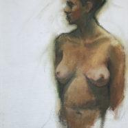 nude figure drawing study by carol devereaux | Felder Gallery
