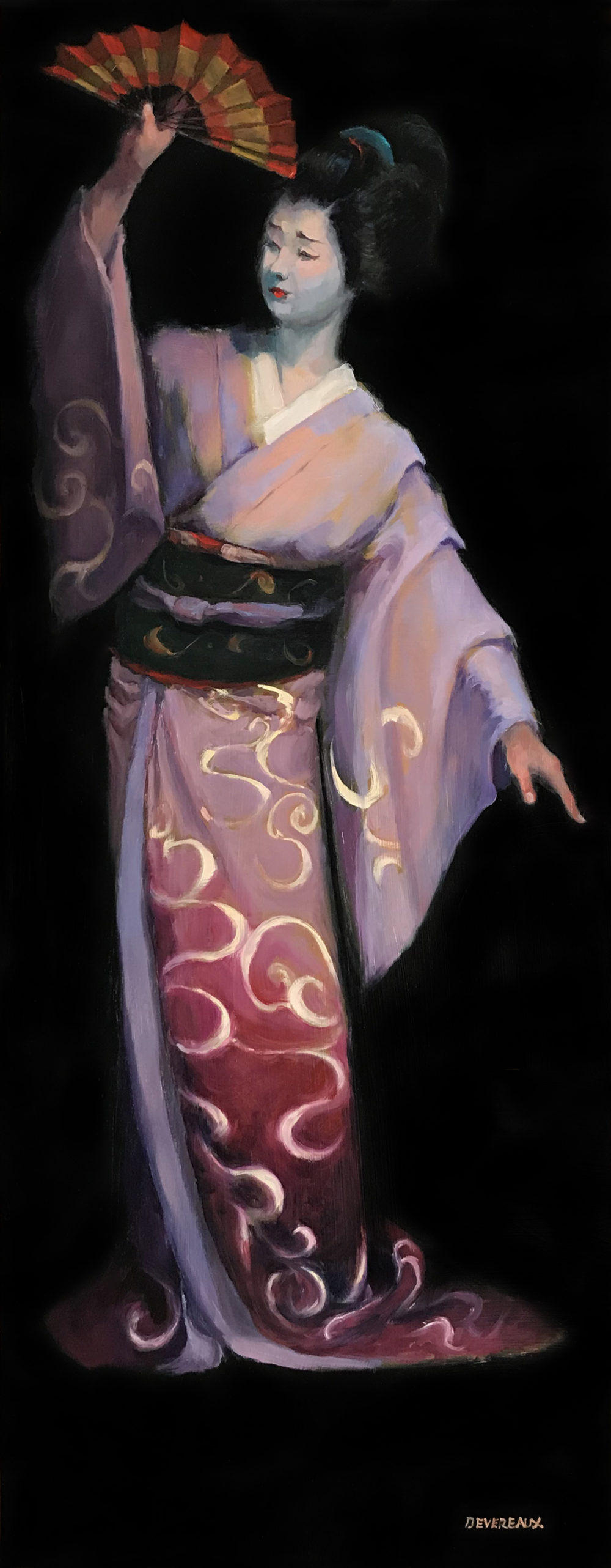 Geisha painting by carol devereaux | Felder Gallery