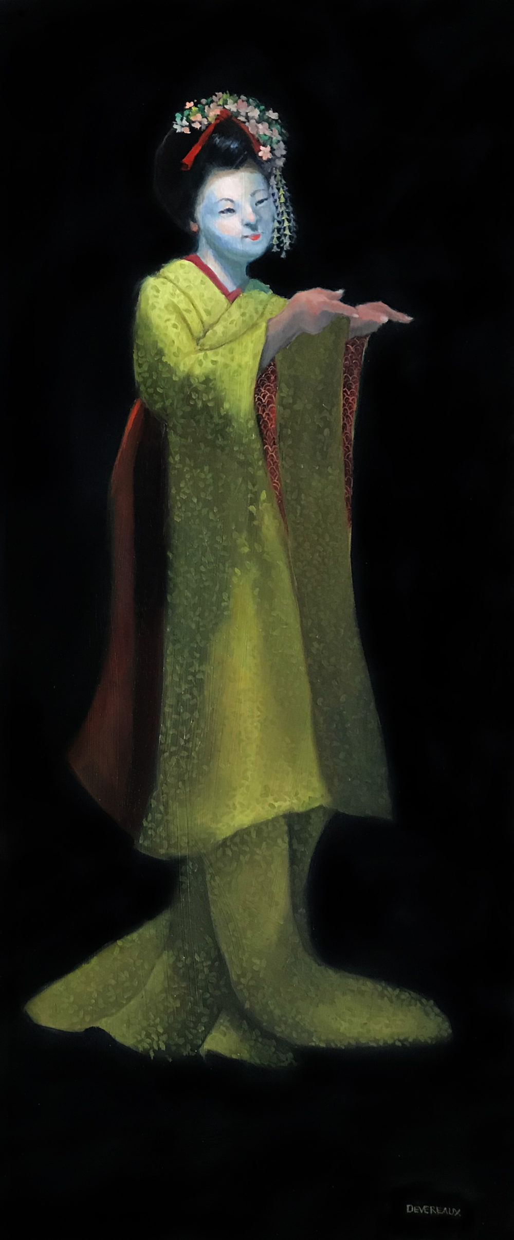 Geisha painting by carol devereaux   Felder Gallery
