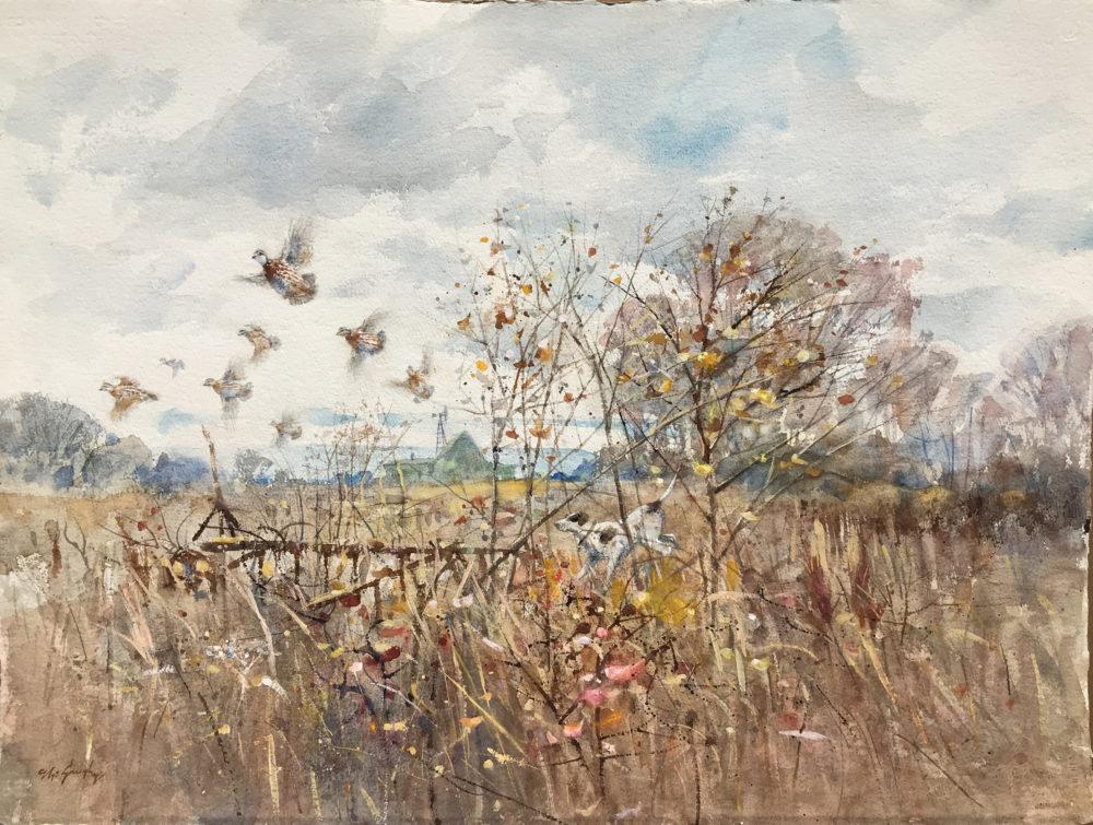 Clay McGaughy original watercolor painting | Felder Gallery