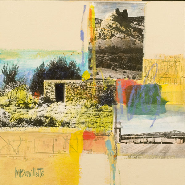 Maureen Brouillette adobe collage painting | Felder Gallery