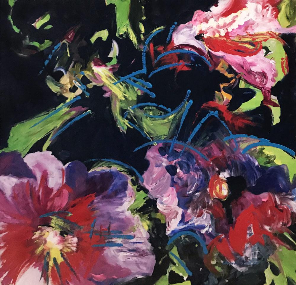 abstracted flowers by deborah males | Felder Gallery