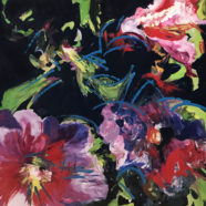 abstracted flowers by deborah males | Felder Gallery