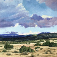 oil desert landscape painting by cliff cavin | Felder Gallery