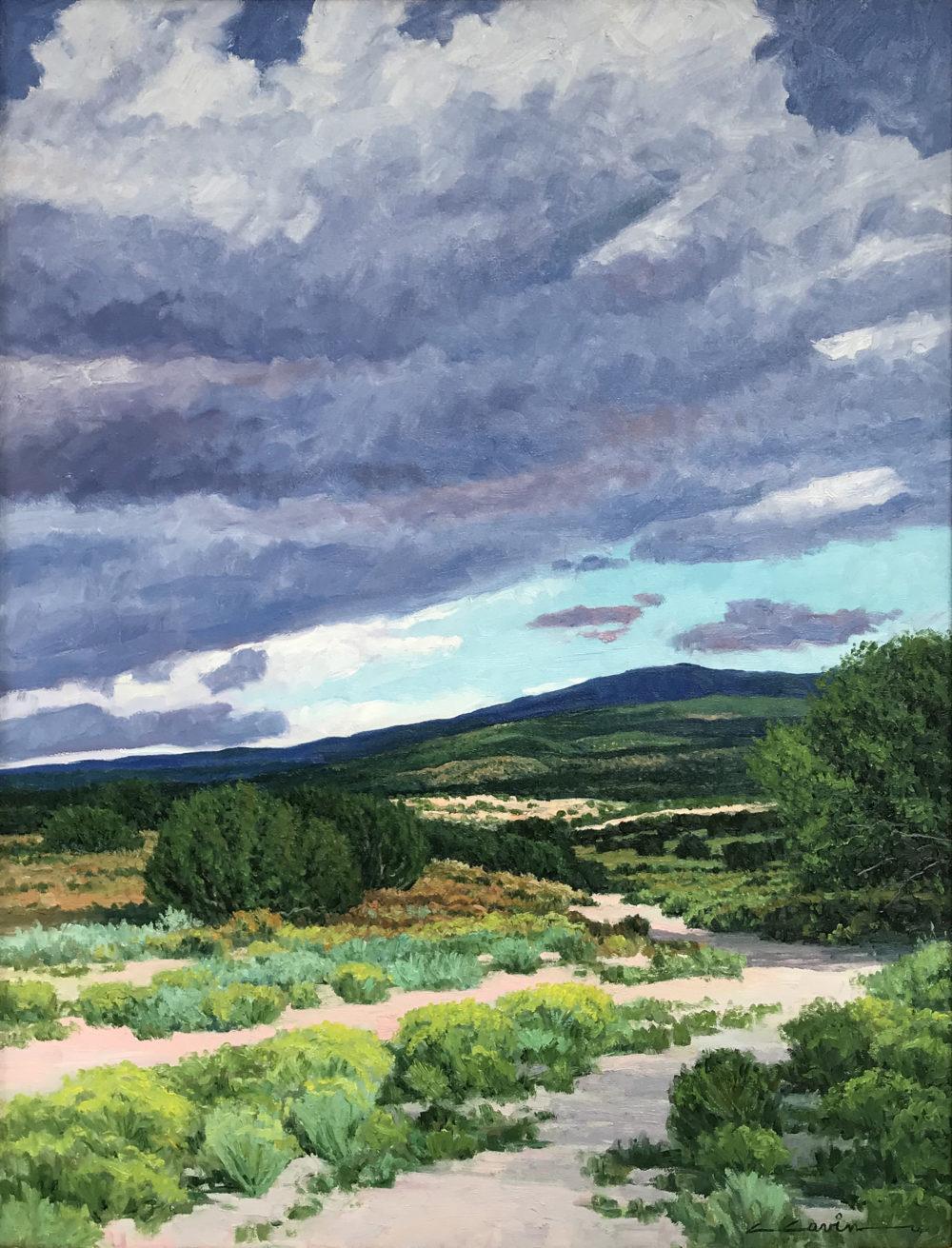 oil desert landscape painting by cliff cavin   Felder Gallery
