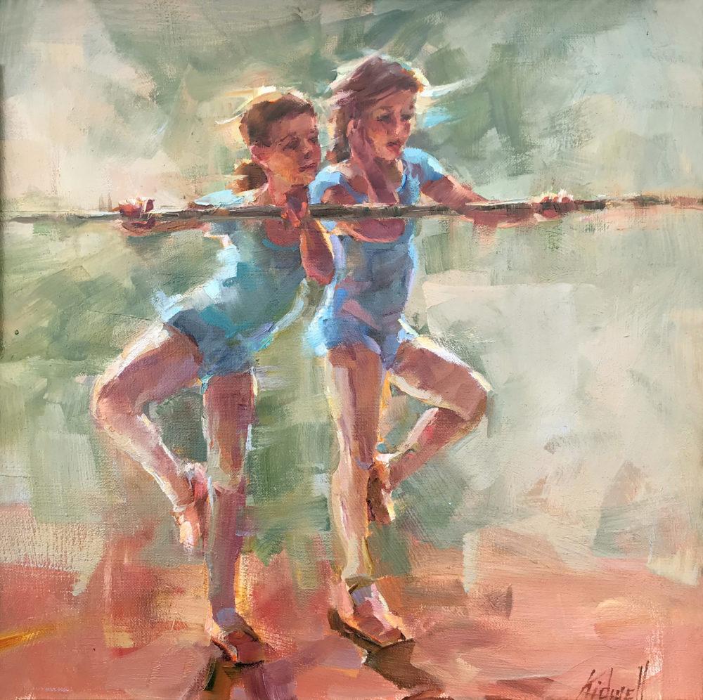 oil figure painting of ballerinas by christy kidwell | Felder Gallery
