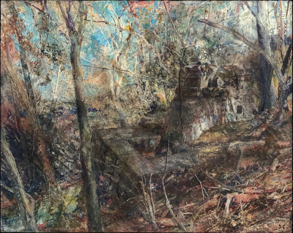 acrylic landscape painting by john cobb | Felder Gallery
