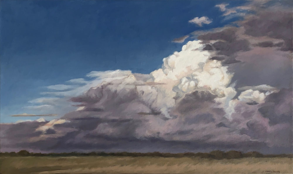 oil cloudscape painting by nancy bandy | Felder Gallery