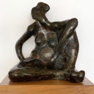 bronze sculpture of figure by david spence | Felder Gallery