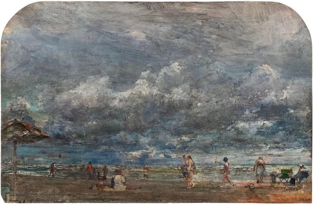 acrylic beach landscape painting by john cobb | Felder Gallery