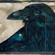 ink drawing of black crow by tim mcmeans | Felder Gallery
