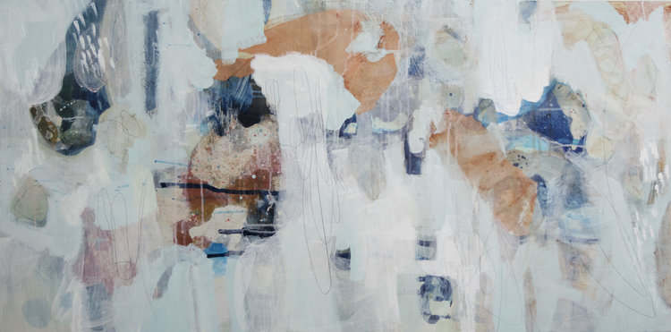 acrylic abstract painting by cat huss | Felder Gallery