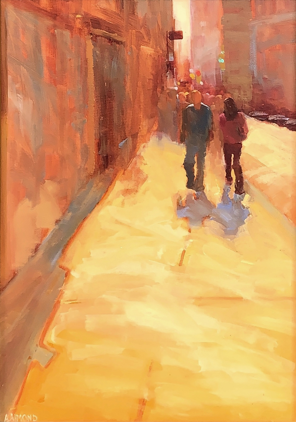oil painting of urban landscape by andrea almond | Felder Gallery