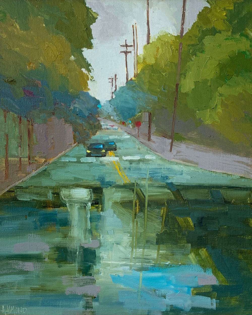 oil painting of san antonio urban landscape by andrea almond | Felder Gallery