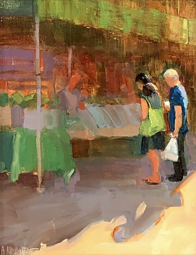 oil painting of san antonio urban landscape by andrea almond | Felder Gallery