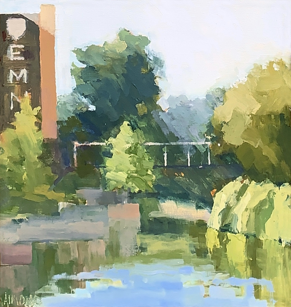 oil painting of san antonio river by andrea almond | Felder Gallery