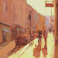 oil painting of dublin urban landscape by andrea almond | Felder Gallery