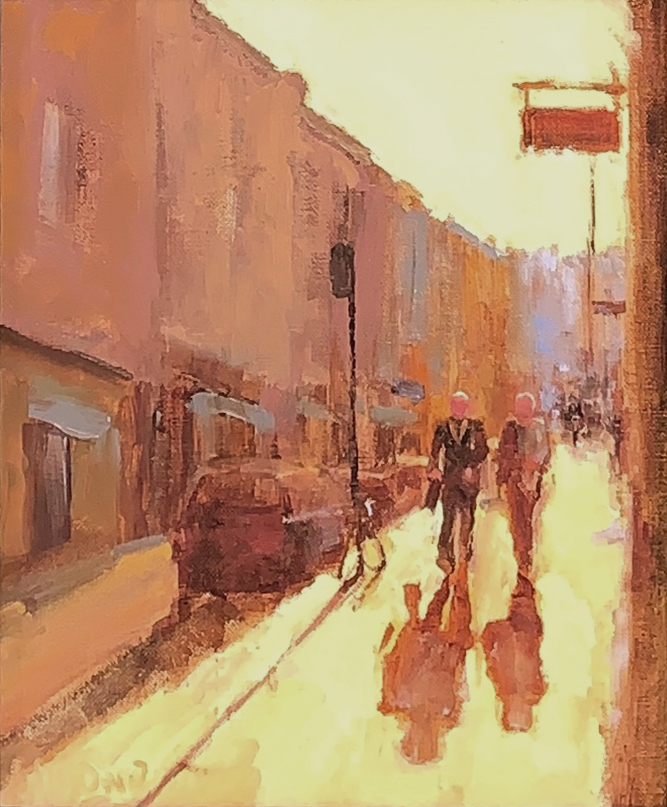 oil painting of dublin urban landscape by andrea almond | Felder Gallery
